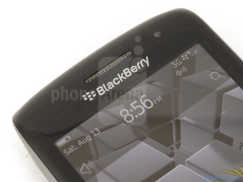 "We find a reasonable 3.7"" WVGA screen on the Torch 9850 - RIM BlackBerry Torch 9850 Review"