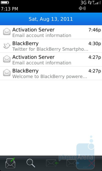 Email - RIM BlackBerry Torch 9850 Review