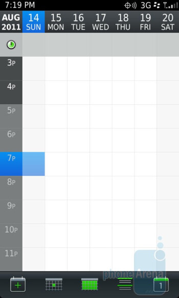 Calendar - RIM BlackBerry Torch 9850 Review