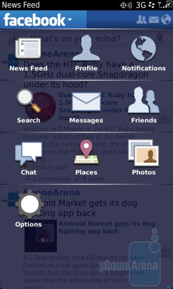 Preinstalled apps - RIM BlackBerry Torch 9850 Review