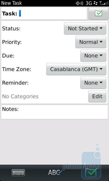 Tasks - RIM BlackBerry Torch 9850 Review