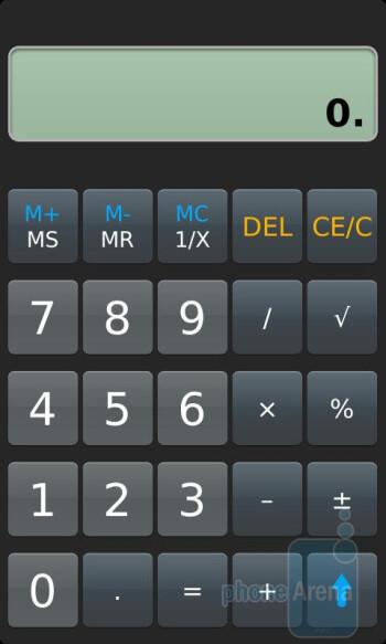 Calculator - RIM BlackBerry Torch 9850 Review