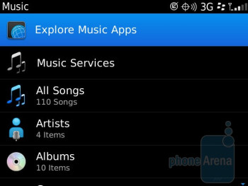 The Music player - RIM BlackBerry Bold 9930 Review