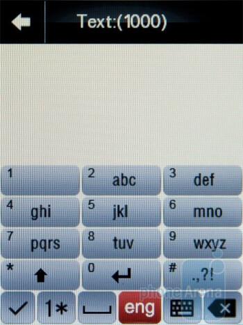 On-screen keyboard - Motorola WILDER Review