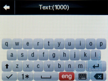 On-screen keyboard - Motorola WILDER Review