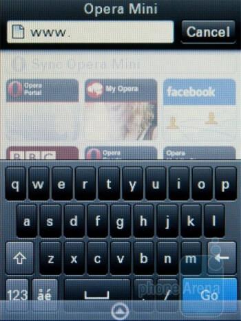 Opera Mini browser - Motorola WILDER Review