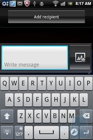 On-screen keyboard - Sony Ericsson Xperia mini pro Review