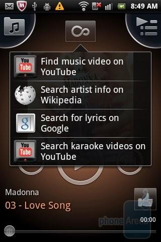 Sony Ericsson's music player is pretty friendly - Sony Ericsson Xperia mini pro Review