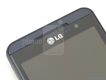 "Speaker and front-facing camera - The LG Thrill 4G boasts a plentiful 4.3"" LCD display - LG Thrill 4G Review"