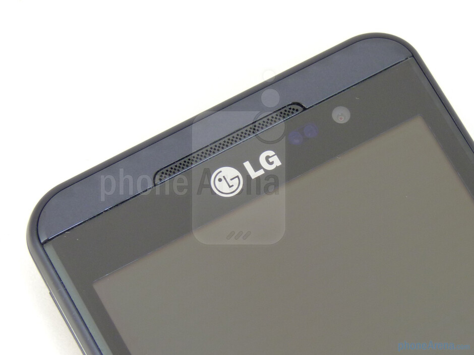 """Speaker and front-facing camera - The LG Thrill 4G boasts a plentiful 4.3"""" LCD display - LG Thrill 4G Review"""