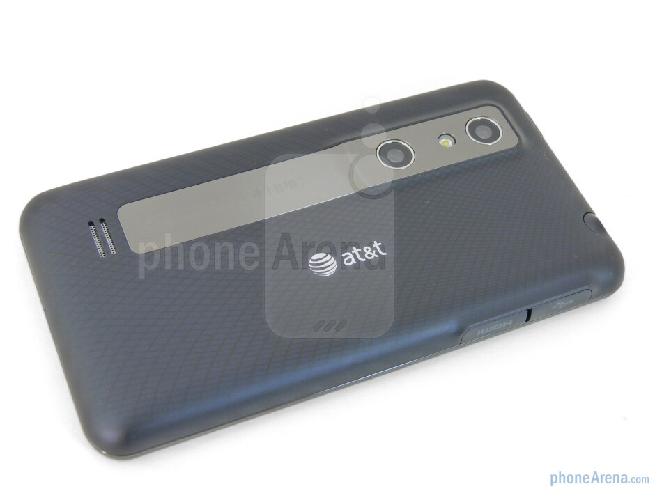 Back - Prominent on the LG Thrill 4G are the two camera lenses in the rear - LG Thrill 4G Review