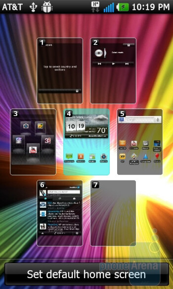 The interface of the LG Thrill 4G - LG Thrill 4G Review