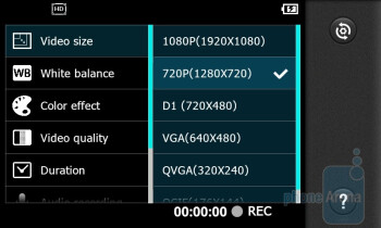 Camera interface - LG Thrill 4G Review
