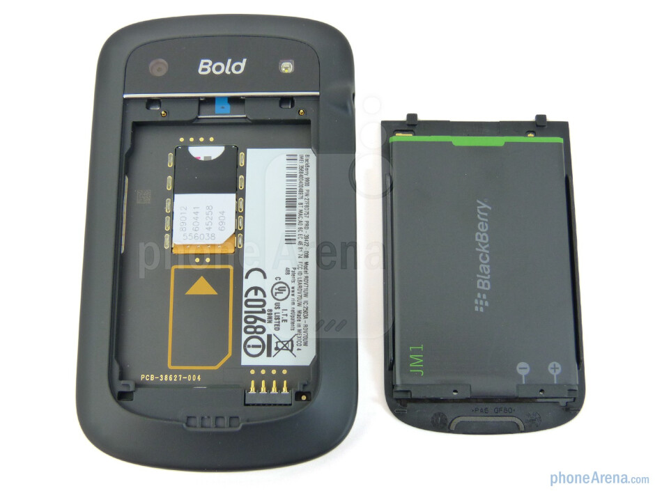 Under the battery cover - RIM BlackBerry Bold 9900 Review