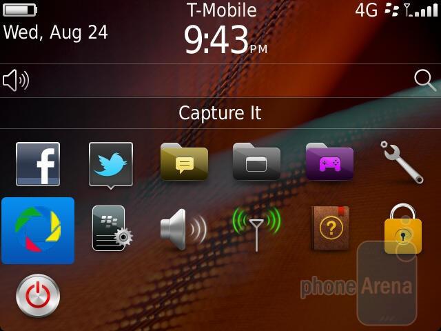 BlackBerry OS 7 on the RIM BlackBerry Bold 9900 - RIM BlackBerry Bold 9900 Review