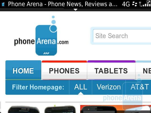 The web browsing experience on the RIM BlackBerry Bold 9900 - RIM BlackBerry Bold 9900 Review
