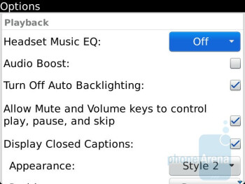 The Bold 9900 is boasting a conventional looking music player interface - RIM BlackBerry Bold 9900 Review