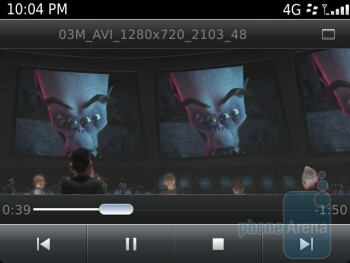 The video player has no problems playing HD videos - RIM BlackBerry Bold 9900 Review