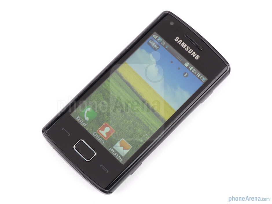 """Front - The 3.2"""" LCD screen sports 240x400 pixels of resolution - Samsung Wave 578 Review"""