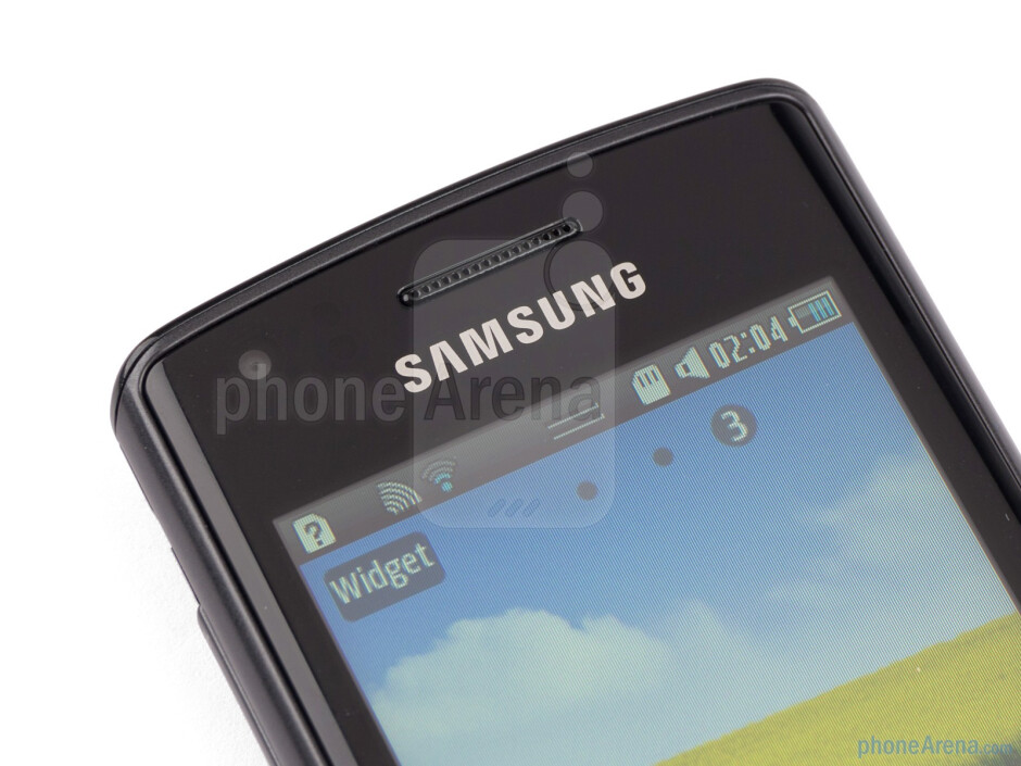 """Speaker and front facing camera - The 3.2"""" LCD screen sports 240x400 pixels of resolution - Samsung Wave 578 Review"""