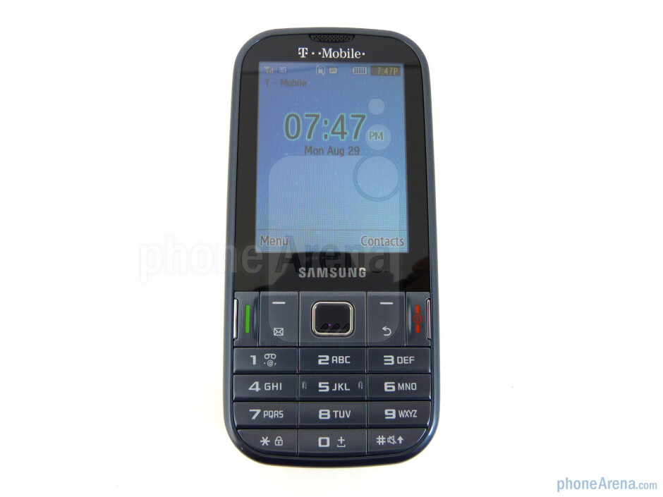 """Front - The Samsung Gravity TXT has a 2.4"""" QVGA TFT display - Samsung Gravity TXT Review"""