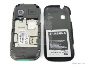 The battery compartment - Samsung Gravity TXT Review