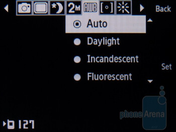 Camera interface - Samsung Gravity TXT Review