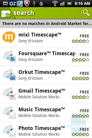 Timescape can now install plug-ins from Android Market - Sony Ericsson Xperia mini Review