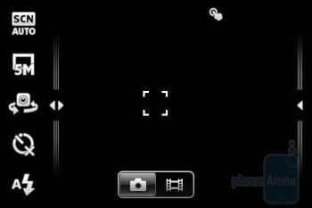 The camera interface - Sony Ericsson Xperia mini Review