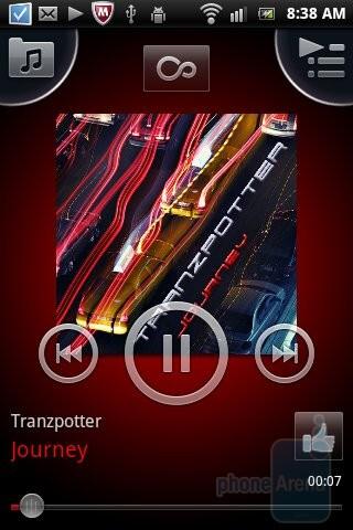 The music player of Sony Ericsson Xperia mini - Sony Ericsson Xperia mini Review