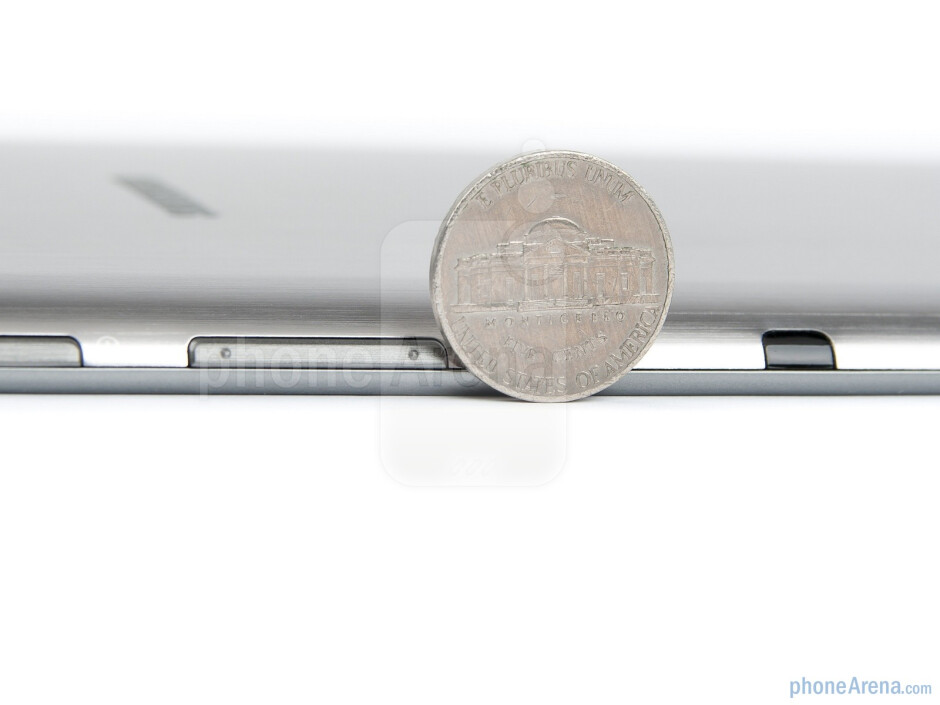 The 7.7 is noticeably thinner than the iPad 2, and Galaxy Tab 10.1/8.9, at just 0.31 inches (7.89mm) - Samsung Galaxy Tab 7.7 Preview