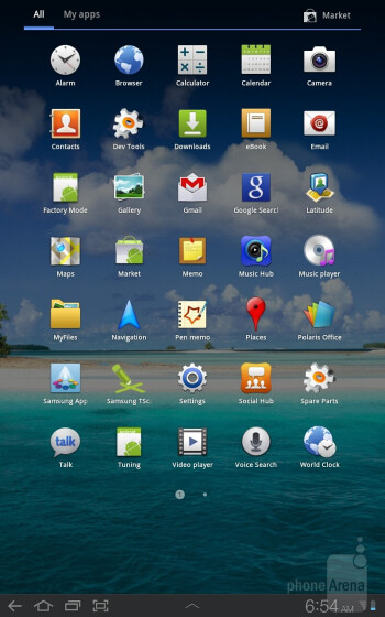 Samsung Galaxy Tab 7.7 runs Android 3.2 layered with its TouchWiz UX user interface - Samsung Galaxy Tab 7.7 Preview