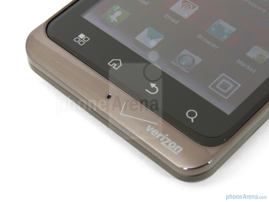 The capacitive buttons below the screen - Motorola DROID BIONIC Review