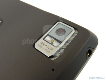 The backside and camera of the DROID BIONIC - Motorola DROID BIONIC Review