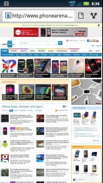 Internet browser - Motorola DROID BIONIC Review