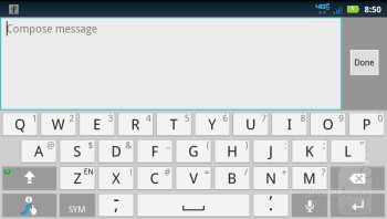 Keyboards of the Motorola DROID BIONIC - Apple iPhone 4S vs Motorola DROID BIONIC vs Samsung Galaxy S II T-Mobile