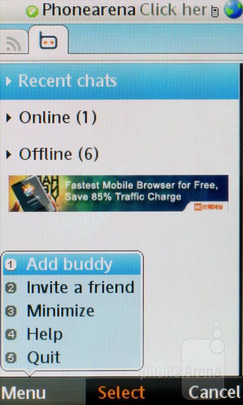 The eBuddy client - Sony Ericsson Mix Walkman Review
