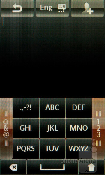 The on-screen keyboard of the Sony Ericsson Mix Walkman - Sony Ericsson Mix Walkman Review