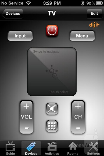 With the Dijit app we're in  constant control of the layout of our on-screen remotes - Griffin Beacon Review