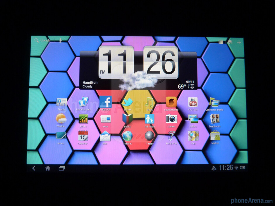 "The HTC Jetstream packs a 10.1"" LCD display with a resolution of 1280 x 768 pixels - HTC Jetstream Review"