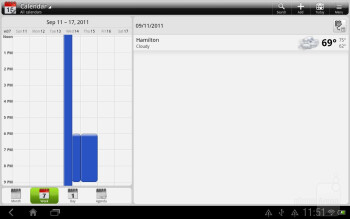 The Calendar of the HTC Jetstream - HTC Jetstream vs Apple iPad 2