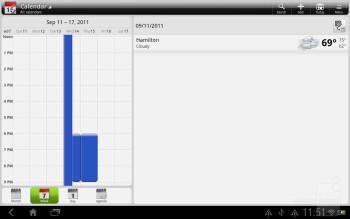 The Calendar of the HTC Jetstream - HTC Jetstream vs Apple iPad 2