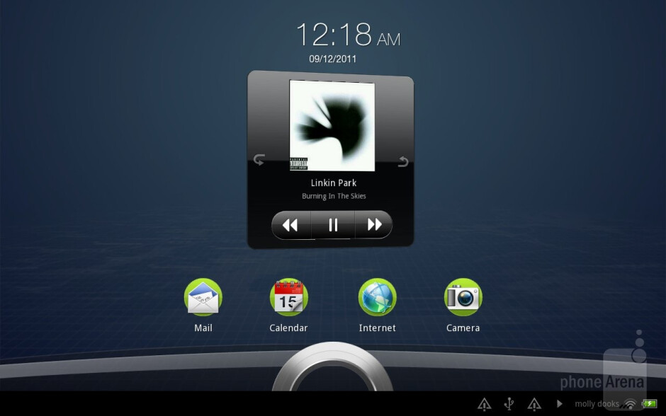 The music player of the HTC Jetstream - HTC Jetstream vs Apple iPad 2