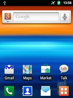 Interface of the Samsung Galaxy Y - Samsung Galaxy Y Preview