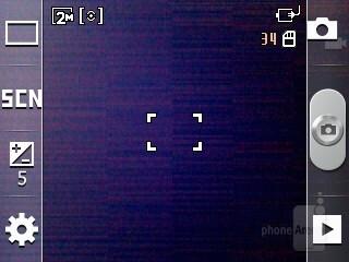 Camera interface - Samsung Galaxy Y Preview