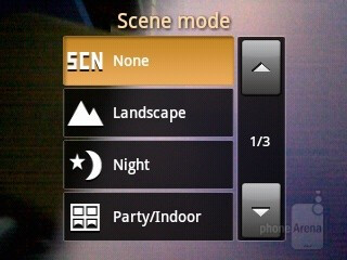 Camera interface - Samsung Galaxy Y Preview