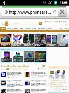 Dolphin browser - Samsung Galaxy Y Preview