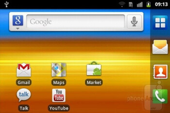Samsung has tailored the TouchWiz overlay properly for the widescreen realities - Samsung Galaxy M Pro Preview
