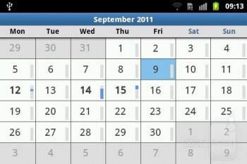 Calendar - Samsung Galaxy M Pro Preview