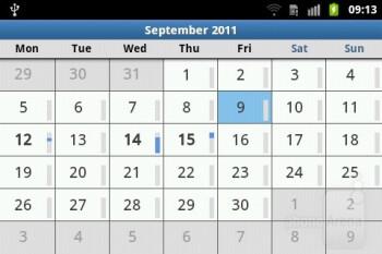 Calendar - Samsung Galaxy M Pro Preview